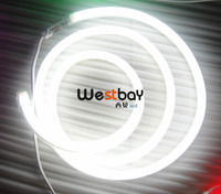 White Led Neon Flex for outside building decoration,signage lettering 10m A Lot Free DHL Shipping