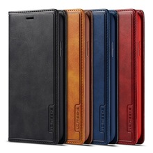 Magnetic Genuine Leather Flip Wallet Case For iPhone XR 7 XS Max Cases Card Holder Cover For Coque iPhone X 8 Plus 11 12 Pro