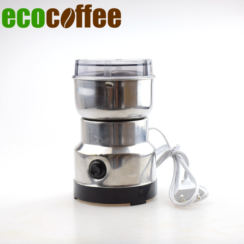 Free Shipping Stainless steel electric coffee grinder seed grinding in Stock Espresso Coffee Bean Mill 200V