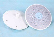 Hot sale white color 20cm diameter rainfall round top head shower for shower cabin roof