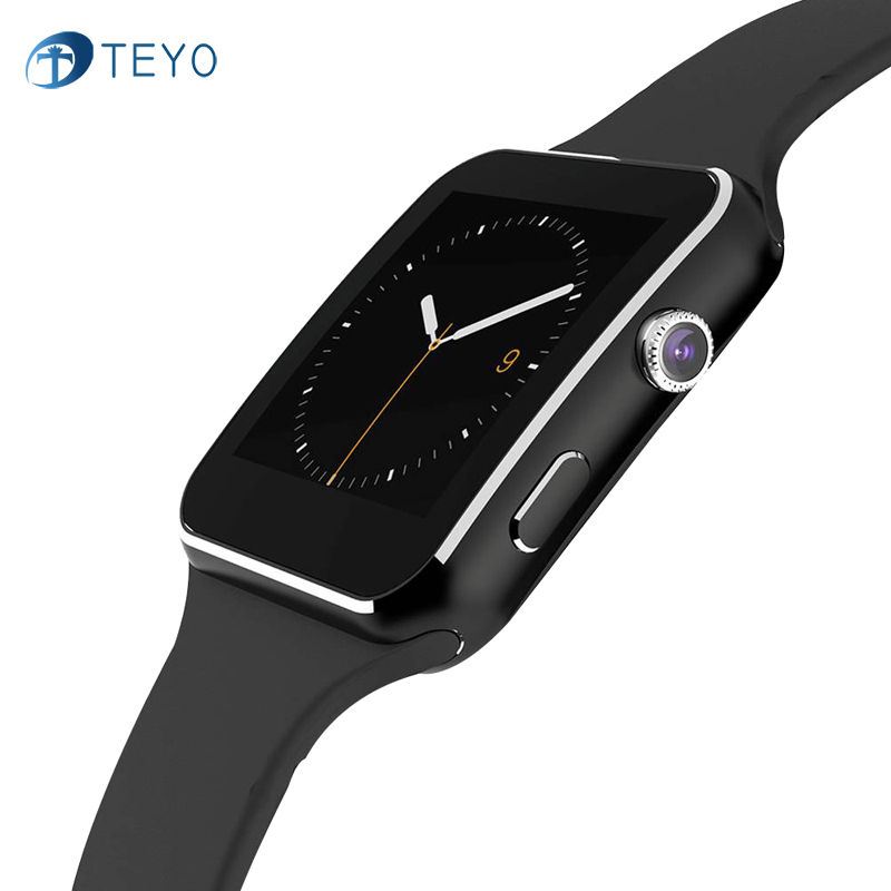 TEYO Sport Smart Watch X6 Android Smartwatch HD Curved Display Sync Facebook Whatsapp Message Support SIM