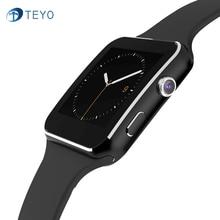 TEYO Deporte Inteligente X6 Reloj Smartwatch Android HD Pantalla Curva de Sincronización Facebook Mensaje Whatsapp Apoyo TF Tarjeta SIM Reloj Inteligente