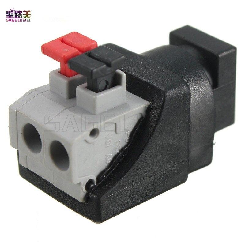 10 pcs DC Разъем 5,5*2,1 мм Мужской Женский Мощность адаптер для 5050 3528 один Цвет светодиодные полосы нажатии подключен без винты DC12V