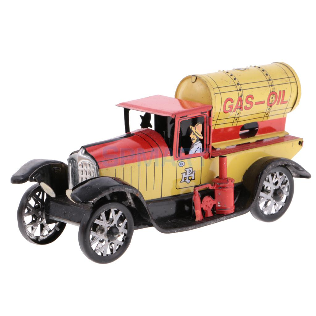 все цены на Vintage Gas-oil Truck Model Wind-up Clockwork Tin Toy Collectible Gift for Kids/Children/Adult