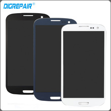 Blanc Bleu Noir Pour Samsung Galaxy S3 i9300 Écran lcd Écran Tactile Digitizer Assemblée Complet Remplacement Livraison Gratuite