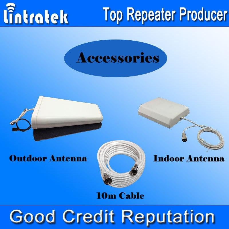 Répéteur de Signal Lintratek 900 1800 amplificateur de Signal 2G + 4G LTE amplificateur de Signal GSM 900 1800 mhz amplificateur de Signal double bande Kit complet #50 - 6
