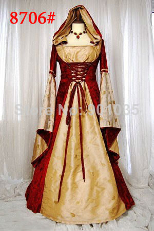 Livraison gratuite lqz8740 princesse médiévale dames fantaisie robe période historique caractère femmes Costume taille M