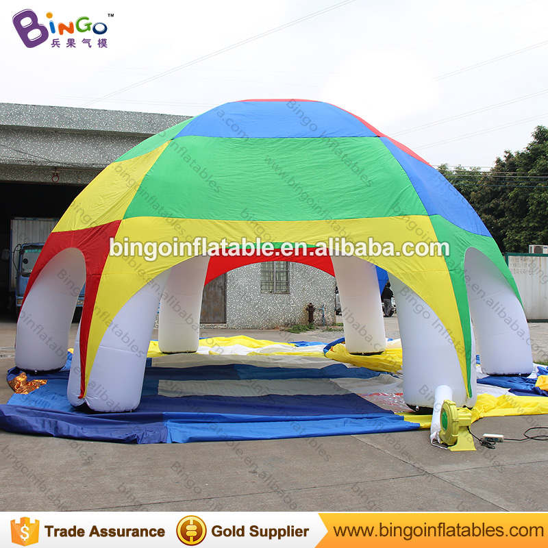8mts/26ft Inflatable air dome spider tent with 6 pillars / outdoor event tent with rainbow color/cusomized cover -toy tent wavy rectangle metal frame ombre sunglasses