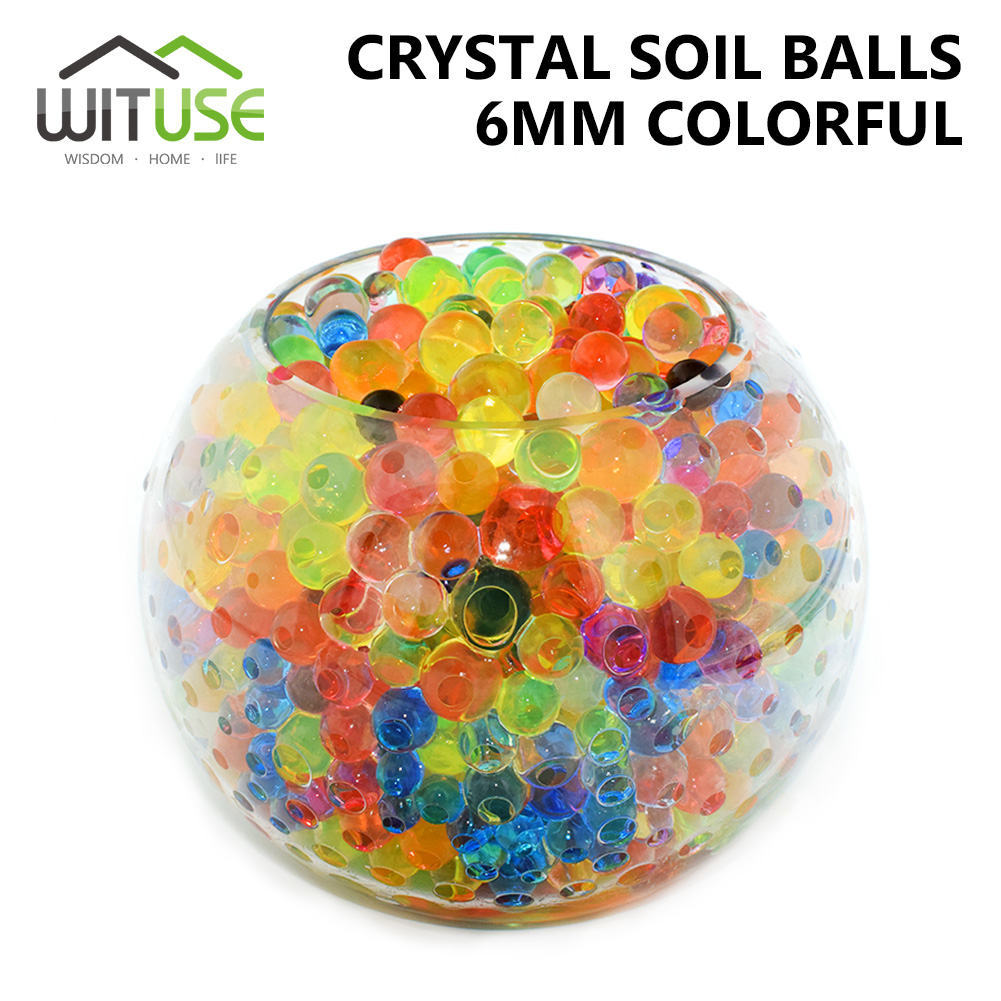WITUSE 10000Pcs/Bag 6mm Pearl Shaped Crystal Soil Water