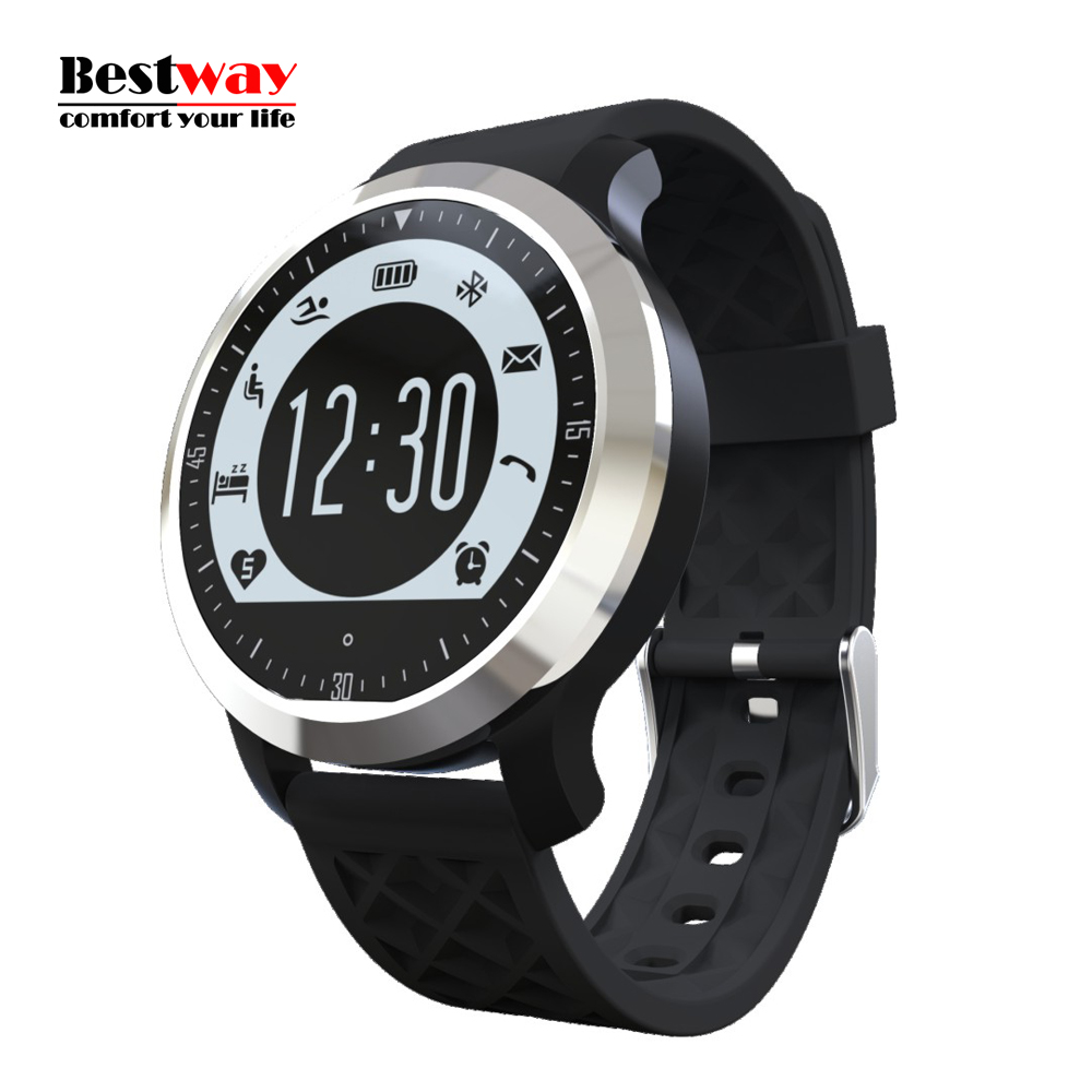 F69 font b Smartwatch b font Heart Rate Monitor Smart Watch Android IOS Watches Digital watch