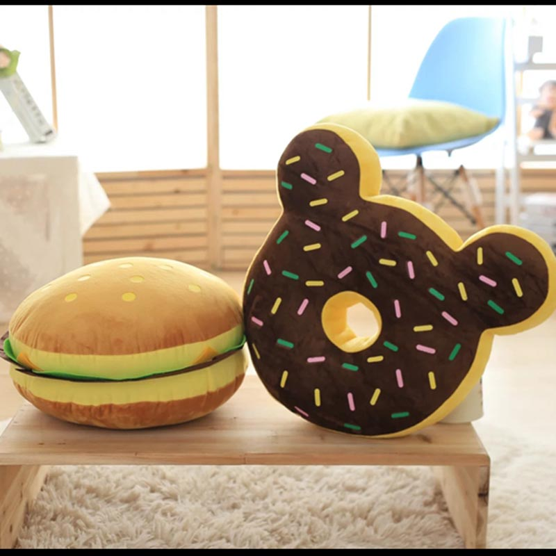 food plush throw pillow simulation hamburger donuts cushion home sofa decorative soft toy kids toy funny gift for children 1pcs 52 26cm creative novelty item funny women big mouth shape cushion pink red lip plush toy throw pillow for couch pregnancy