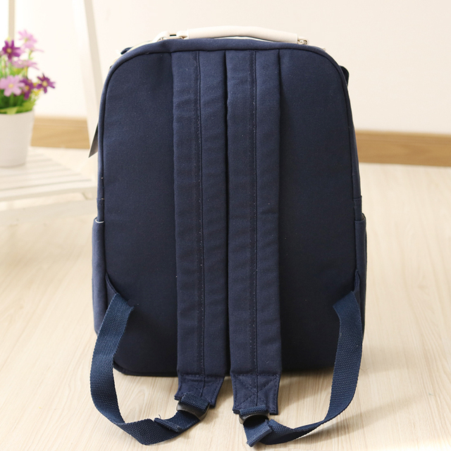 Women Canvas Backpack School bag For Girl Ladies Teenagers Casual Travel bags Schoolbag Backpack 2