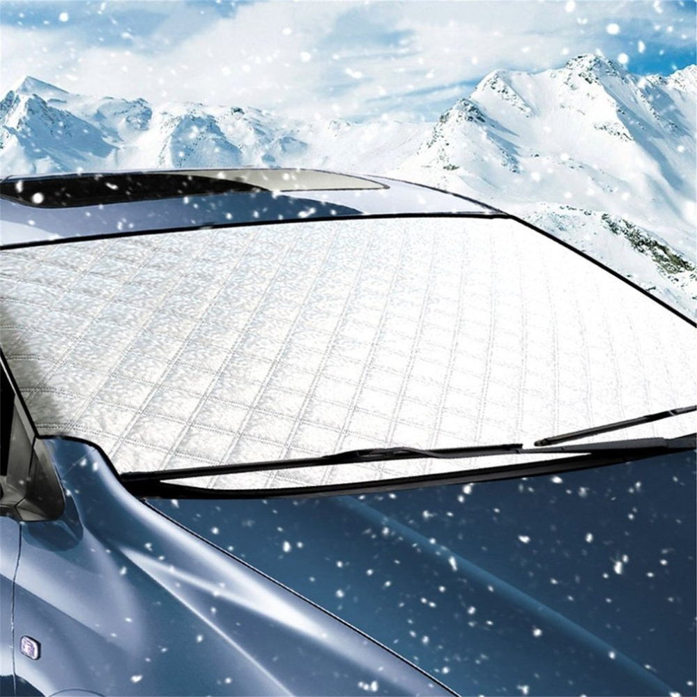 Auto Car Windshield Snow Car Cover Shroud UV Sunproof Waterproof Shield Sunshade Wipers Protector Extra Large & Thick Windproof