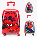 "COOL child spiderman luggage suitcase variety spiderman cartoon Travel 16"" 18 inch students anime Optimus Prime children gift"