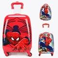 """Criança legal spiderman variety spiderman dos desenhos animados bagagem mala de viagem 16 """"18 polegada estudantes anime optimus prime presente das crianças"""