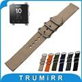 24mm Nylon Watch Band + Tool for Sony Smartwatch 2 SW2 Zulu Fabric Strap Wrist Belt Bracelet Black Gray Blue Brown Green Orange