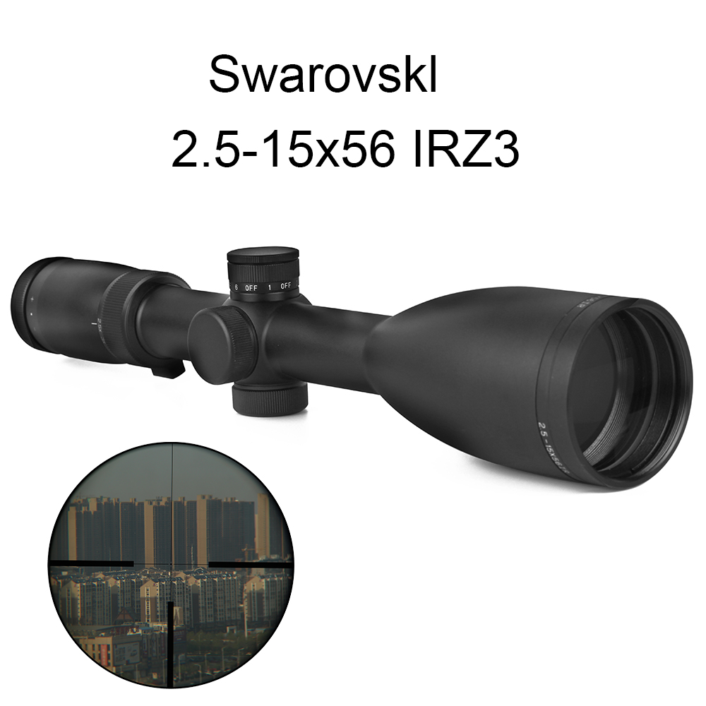 2.5-15x56 IRZ3 Optic Sight Imitation Swarovskl Reticle Optics Hunting Scopes Side Parallax Focus Adjust Collimator Sight