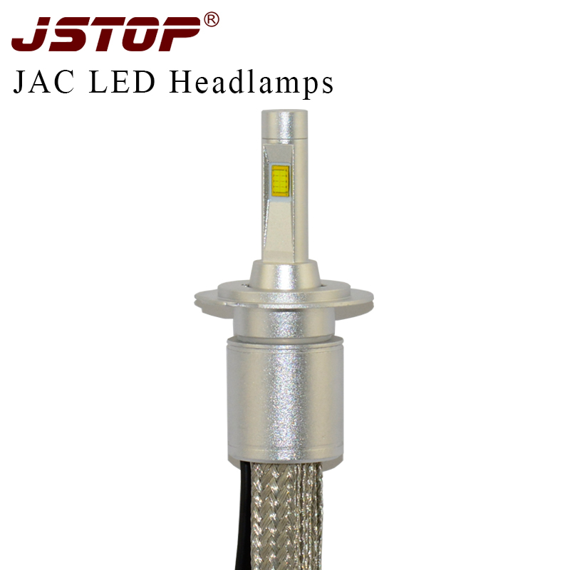 JSTOP JAC car high quality headlights H4 high/low beam H7 LED 6000K White 12VAC light canbus Automobiles Headlamp H1 headlights авто jac s5 в москве