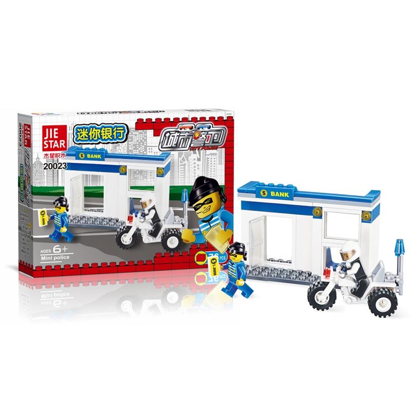 2017 City Police Patrol motorcykel Chase Blocks 76pcs tegelstenar byggsatser uppsättningar modell tegelstenar pedagogiska leksaker för barn