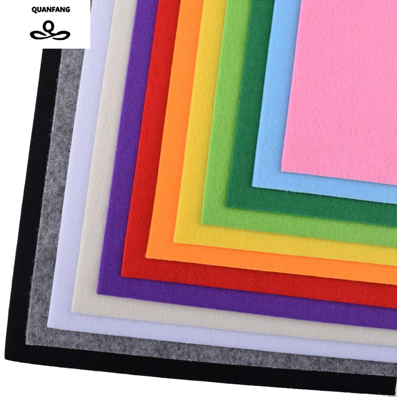3mm Thick Felt Non Woven Fabric Polyester Cloth For Sewing Dolls Crafts Home Decoration Pattern Bundle 12pcs 30*30cm B-03230X30