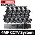 Домашняя AHD DVR 4.0MP Full HD CCTV Система HDMI 1080P DVR AHD 16 шт. 4.0MP Bullet домашняя камера видеонаблюдения