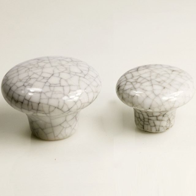 Online Shop 32mm Cream crackle Glaze Knob kitchen cupboard door ...