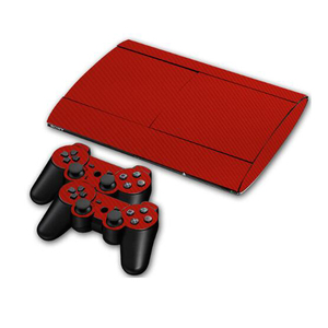 Image 5 - カーボンファイバービニールソニー PS3 スーパースリム 4000 コンソールと 2 ゲームパッドコントローラスキンカバー controle スキン