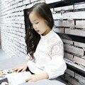 4 5 6 7 8 9 10 11 12 13 t Meninas Brancas blusas Camisa Branca Para O Primeiro Grau Da Escola do Adolescente Blusa Outono camisa