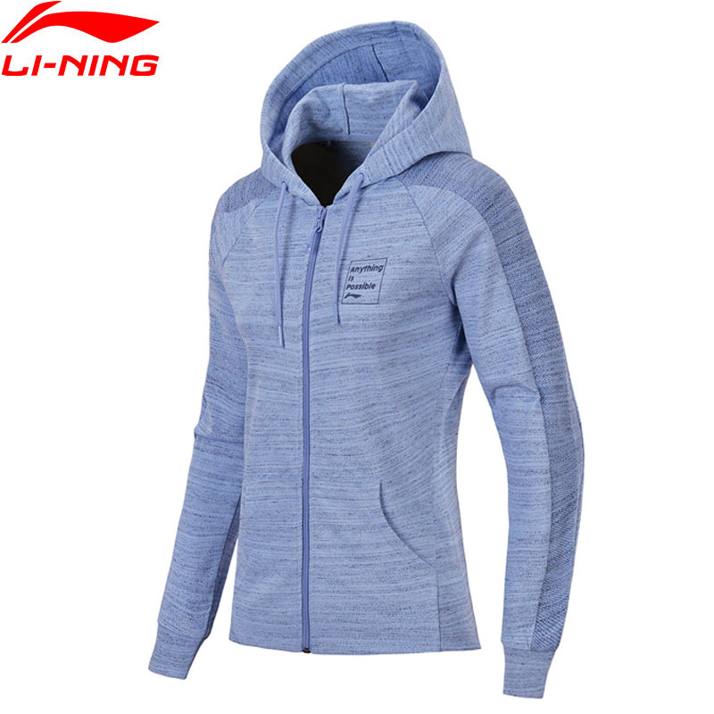 (ausverkauf) Li-ning Frauen Fz Stricken Hoodie Pullover Zip Regelmäßige Fit Komfort Jacke Fitness Futter Sport Pullover Awdn136 Www966