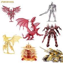 Piececool 3D меаллическая сборка гром красный кран черный рыцарь пламя дракона ураган модель воина головоломки Творческий Детские игрушки