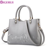 DIGERUI Handbags Women Messenger Bag Female Leather Shoulder Bag Women S Embroidery Flower Handbag Sac A