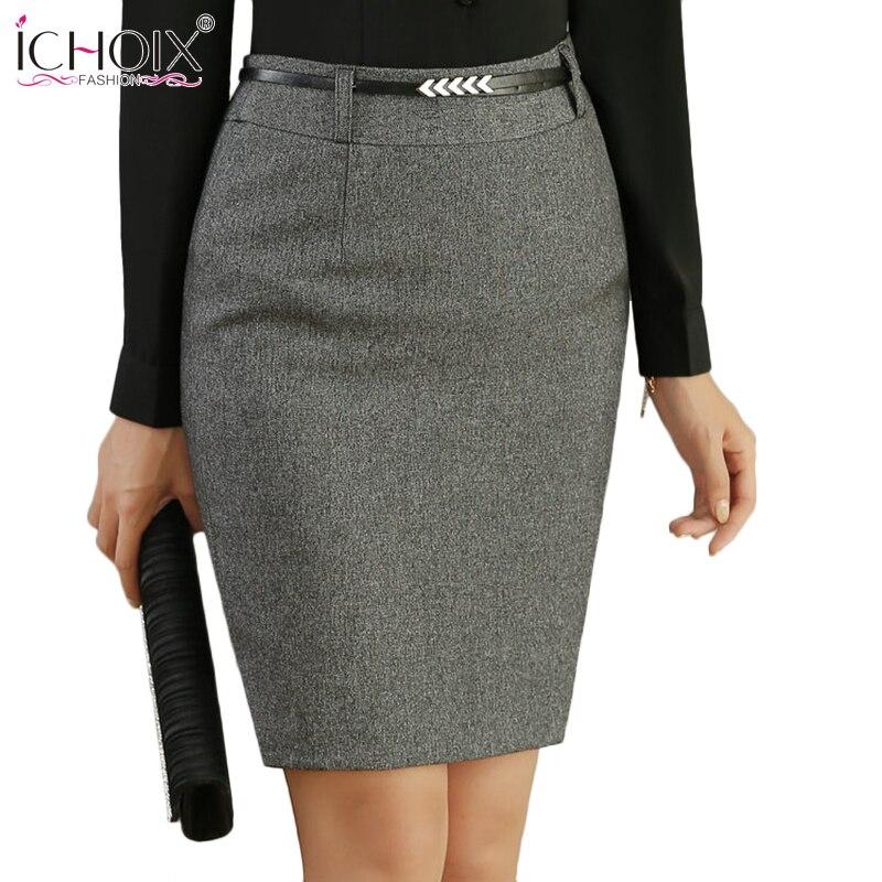 Офисные юбки до колена
