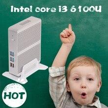 Бесплатная Доставка [6gen intel core i3 6100u] skylake mini pc 4 ГБ ram 128 ГБ ssd 4 К htpc intel hd graphics 520 gaming pc ультра
