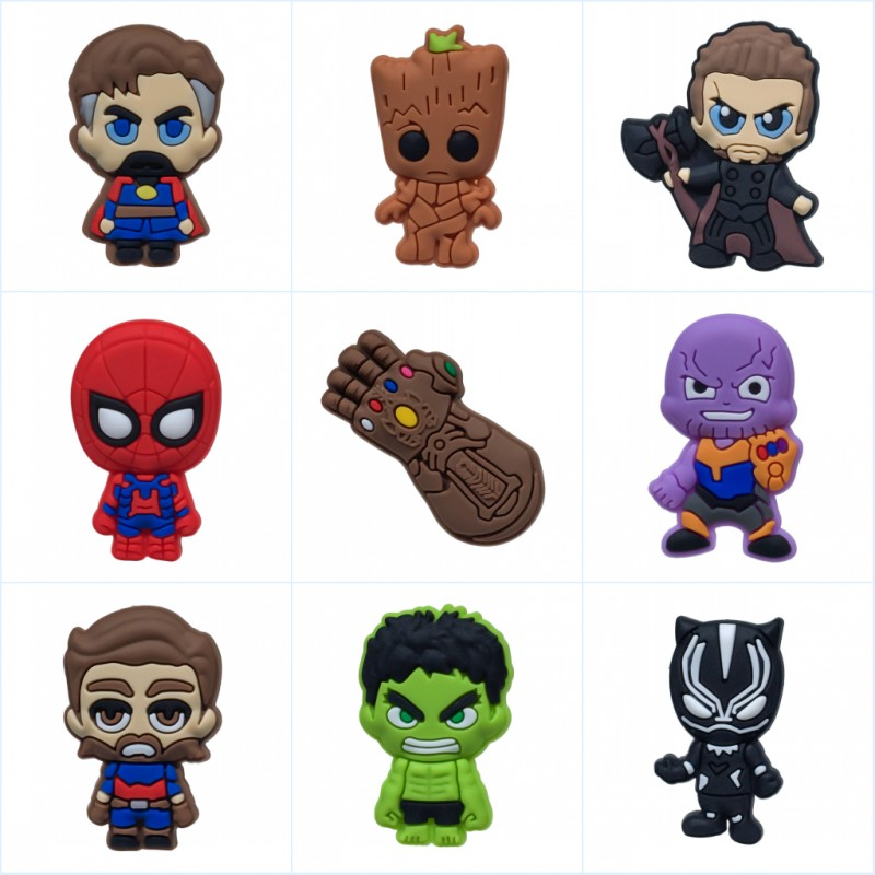 1pcs Avenger 3 Cartoon Pvc Brooches Hot Movie Pins Brooches Badges Clothes/hats Accessory School Bag Decor Kid Diy Gift Office & School Supplies Badge Holder & Accessories