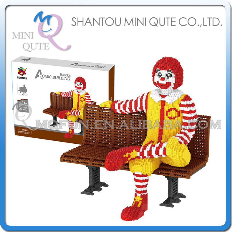 PZX 8833-1 Building Blocks cartoon action figures uncle Ronald on Chair blocks bricks Toys Middle christmas gift for kids