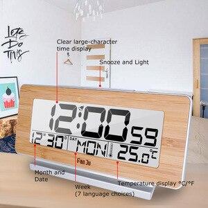 Image 3 - FanJu FJ3523 Digital Alarm Clock LED Electronic 12H/24H Alarm and Snooze Function Thermometer Backlight Desktop Table Clocks