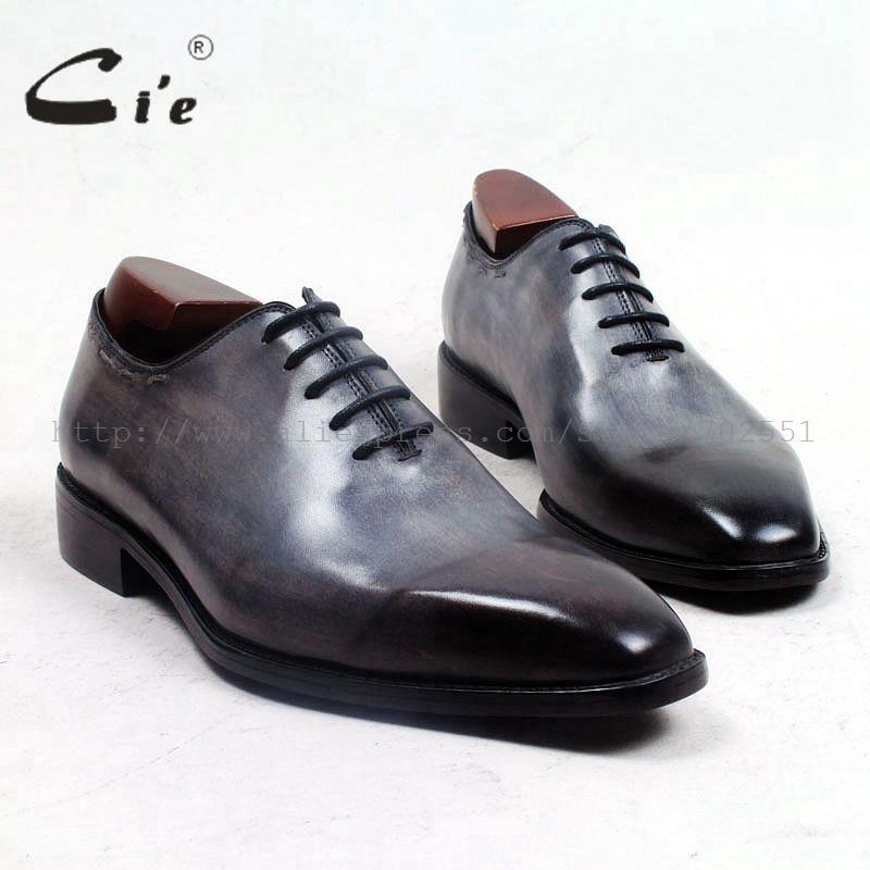 cie square plain toe whole cut patina grey 100 genuine calf leather outsole breathable men s