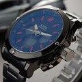Reloj de Los Hombres de la Marca de Lujo de Acero Inoxidable Led Analógico-Digital de deportes de los hombres reloj de cuarzo resistente al agua reloj relogio masculino