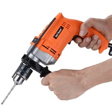 Electric Drill Hammer Impact Drill Adjustable Speed 220v 750W Rotary 3000r/min Household Pistol Drill Multi-function Power Tools electric hammer drill diold прэ 9 power 1500 w speed from 0 to 750 rpm