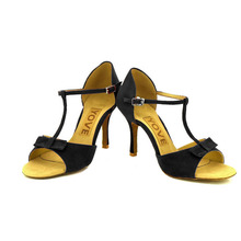 YOVE Dance Shoes Satin Women's Latin/ Salsa Dance Shoes 3.5″ Slim High Heel More color w137-3