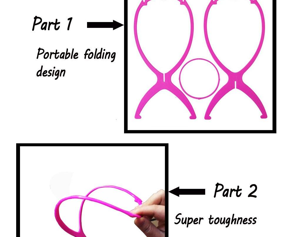 dobrável peruca titular hairpieces exibição ferramenta estável para perucas