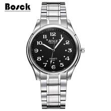 BOSCK famous watches quart watch design sport steel clock top quality military men male luxury Metal watchband 5147 montre homme