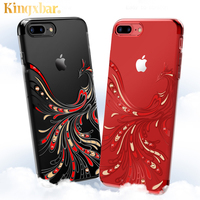 Luxury Cover For IPhone 7 Case Transparent Hard Ultra Thin Rhinestone Phone Cases For Apple Iphone