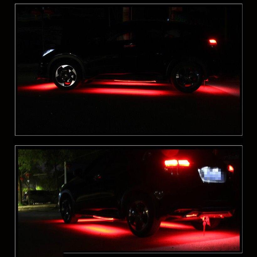 8 Kleuren RGB Auto Sfeer verlichting Decoratie LED Strips Onder Auto ...