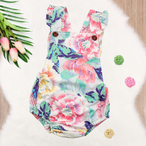 35e5b44c18f6 Adorable Newborn Baby Girl Floral Romper Jumpsuit One-Piece Clothes Outfits Summer  Sunsuit