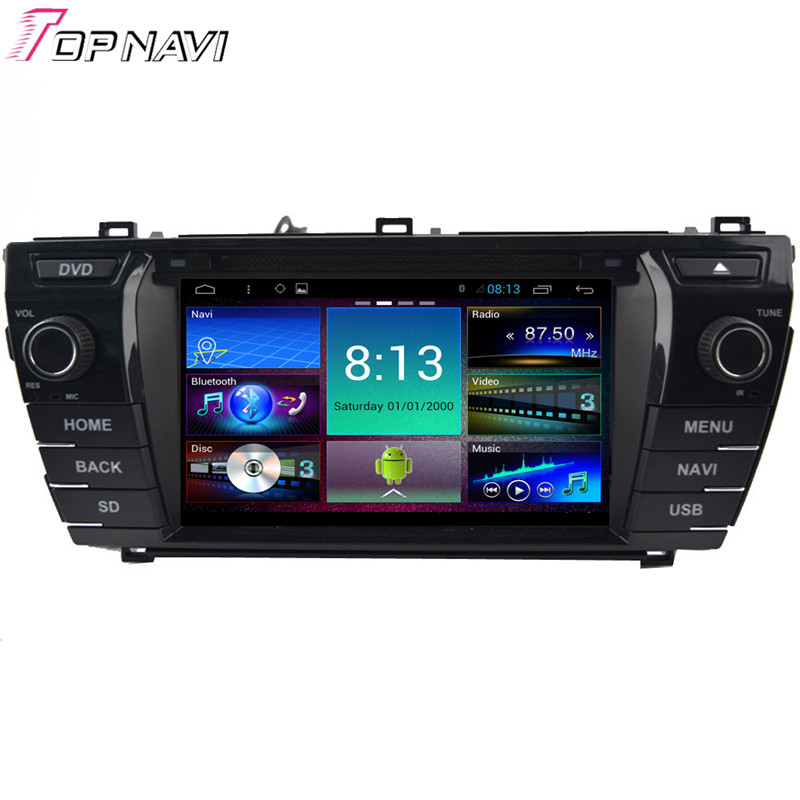 7'' Quad Core Android 4.4 Car Stereo For Toyota Corolla 2014 With 16GB Flash Mirror Link GPS Map Radio Audio DVD Free Shipping