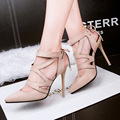 Free shipping Spring and Autumn hollow cross strap high-heeled shoes with thin pointed shoes shallow mouth Roman sandals