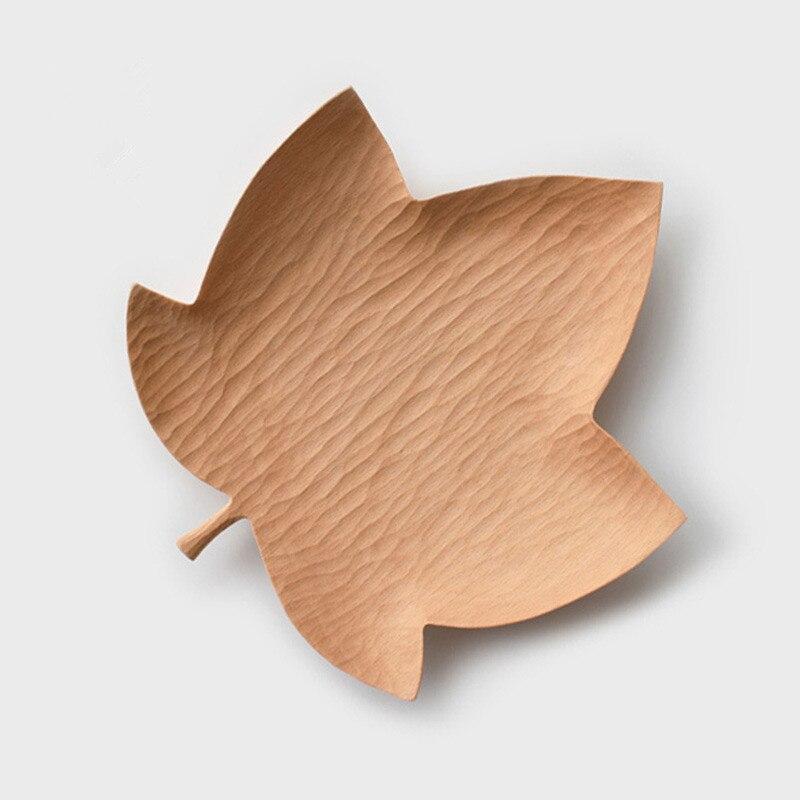 Plat en feuille d'érable Original fait à la main en bois caboteur créatif plaque en bois pour Fruits/bonbons multi-usage Table décor assiettes alimentaires