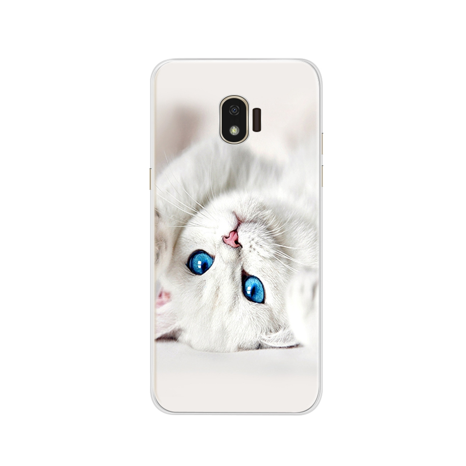 Painting Case For Samsung Galaxy J2 2018 J250 SM J250F Soft Silicone Back Phone Case For Samsung J2 Pro 2018 J2Core J260F Cover in Fitted Cases from Cellphones Telecommunications