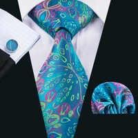 LS-1592 Барри. ван 2017 Для мужчин галстук 100% шелк жаккард Тканые Галстук Ханки Запонки Наборы для формальной свадьбы Бизнес Вечерние